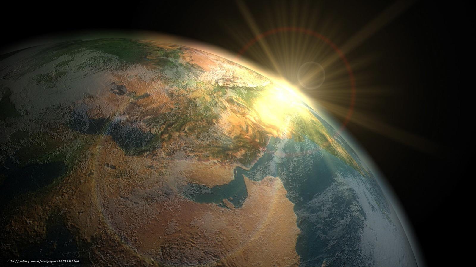 Tlcharger fond d 39 ecran vue de l 39 espace terres lever du for Sfondi desktop universo