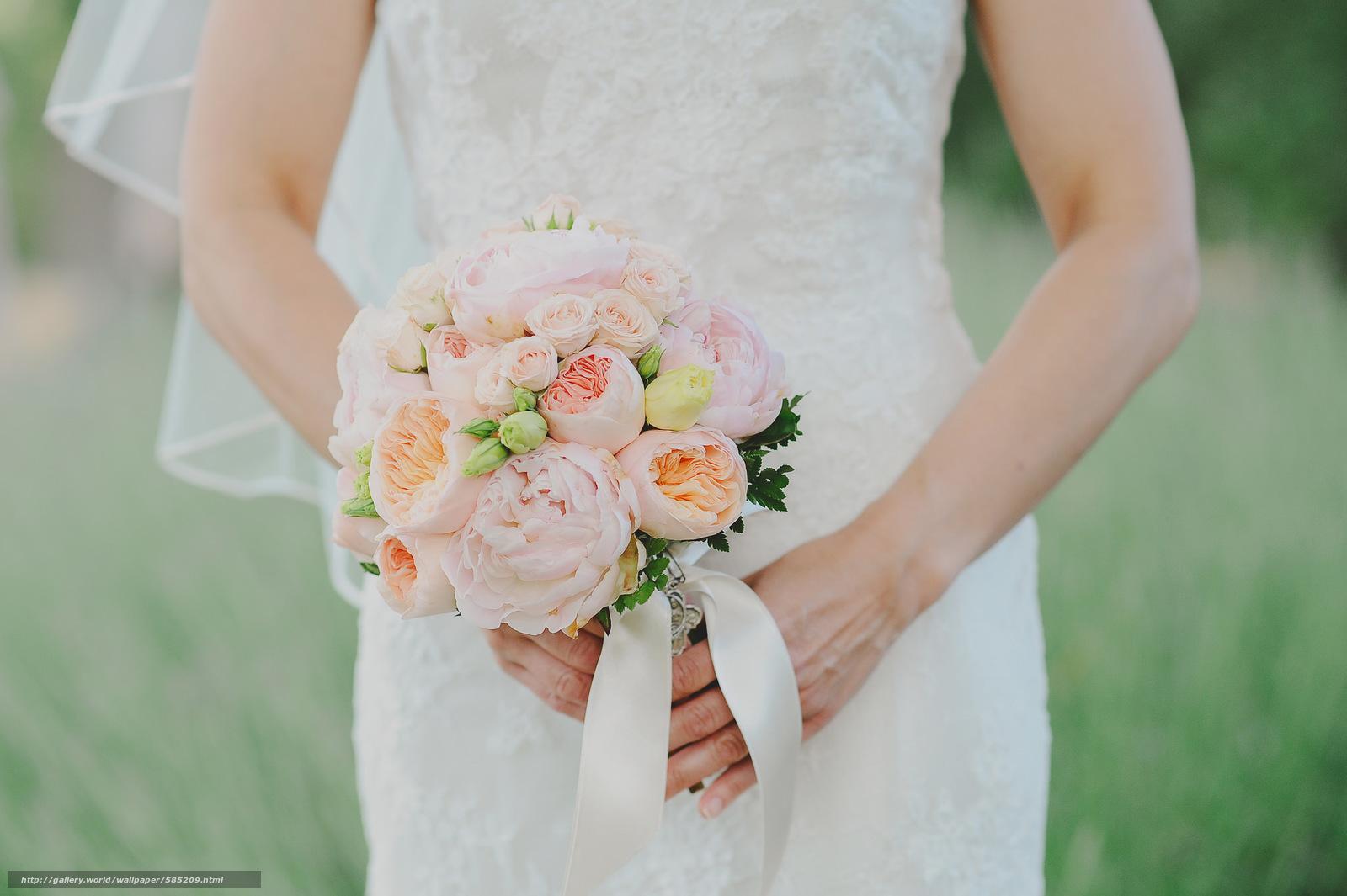Скачать обои букет,  невеста,  свадьба бесплатно для рабочего стола в разрешении 2048x1363 — картинка №585209