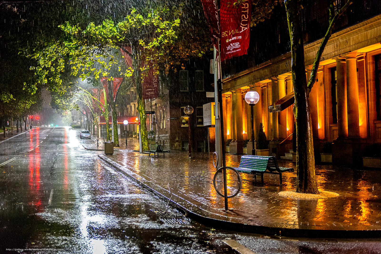 Фото осень дождь город