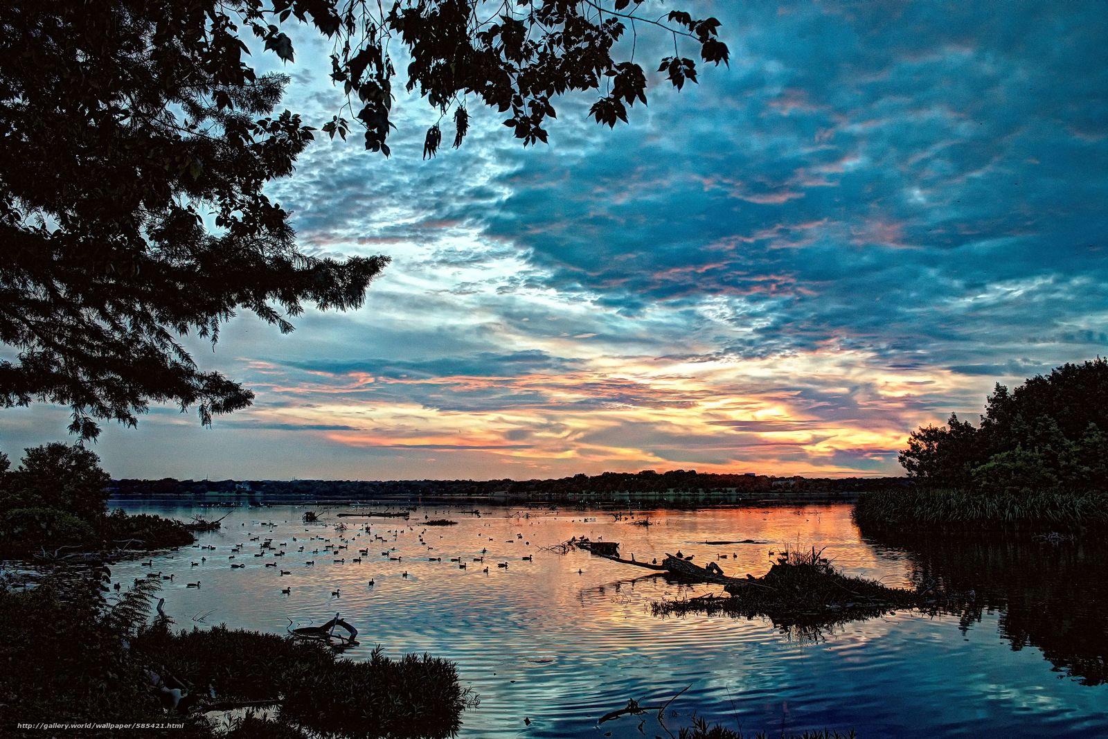 Download wallpaper sunset,  lake,  landscape free desktop wallpaper in the resolution 4818x3212 — picture №585421