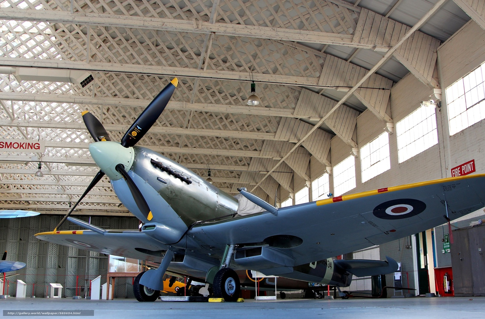 Download wallpaper British,  museum,  plane,  single-seat fighter free desktop wallpaper in the resolution 3336x2196 — picture №585654