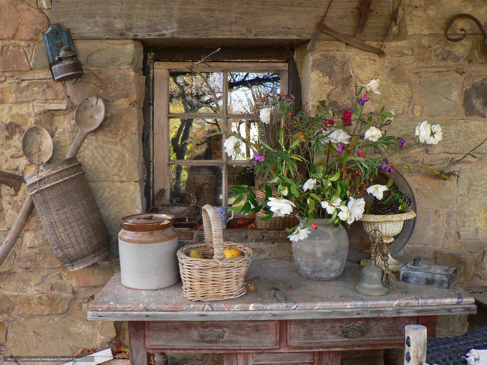 scaricare gli sfondi tavolo,  Cestini,  vaso,  Fiori Sfondi gratis per la risoluzione del desktop 2560x1920 — immagine №585674