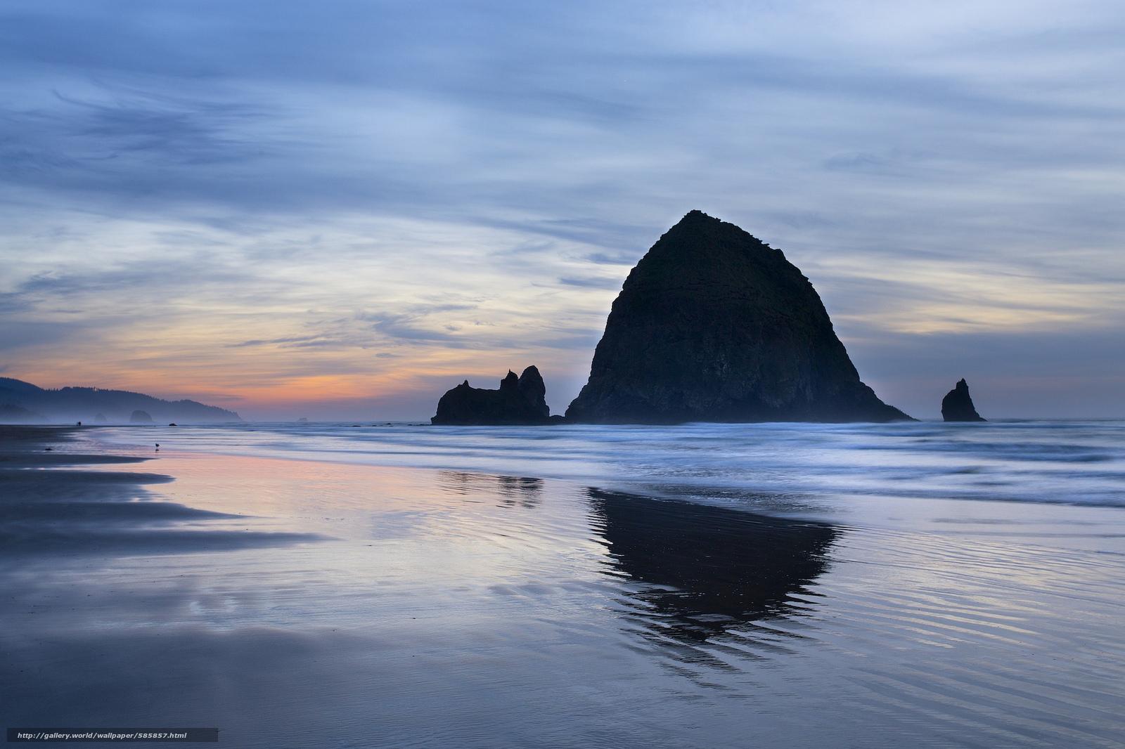 Скачать обои штат Орегон,  закат,  США,  небо бесплатно для рабочего стола в разрешении 2048x1365 — картинка №585857