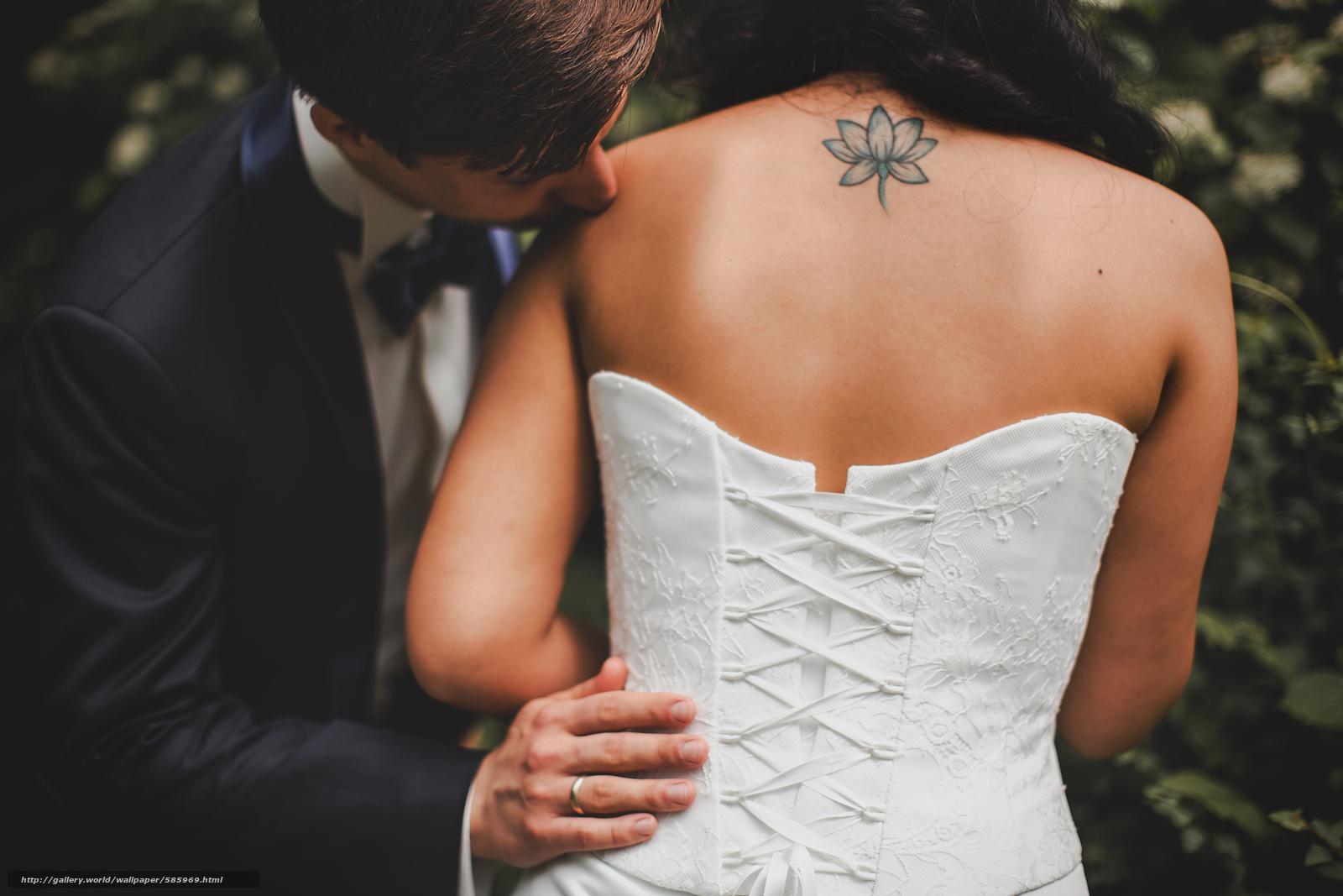 scaricare gli sfondi indietro,  tatuaggio,  sposo,  Anello Sfondi gratis per la risoluzione del desktop 5616x3744 — immagine №585969