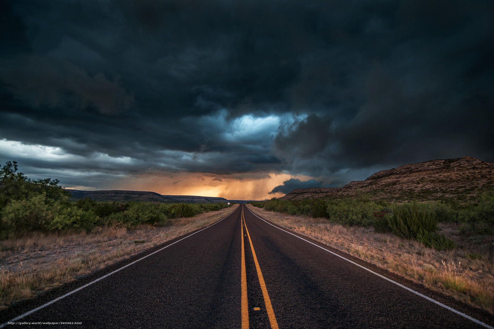 Download wallpaper Texas,  evening,  CLOUDS,  road free desktop wallpaper in the resolution 2248x1499 — picture №585982