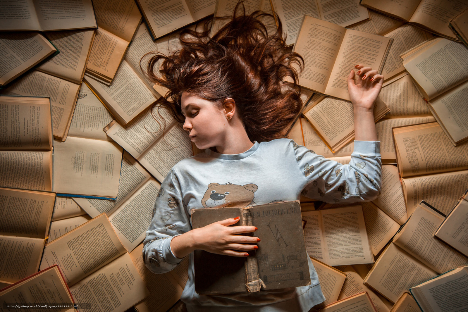 Descargar gratis sueño,  Libros,  chica Fondos de escritorio en la resolucin 2048x1366 — imagen №586199