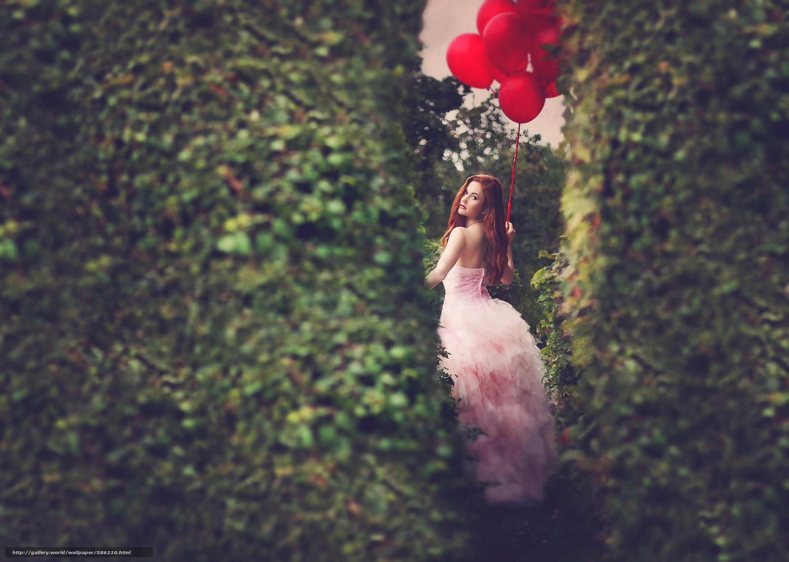 scaricare gli sfondi Palline,  vestire,  rossa,  ragazza Sfondi gratis per la risoluzione del desktop 2048x1458 — immagine №586210