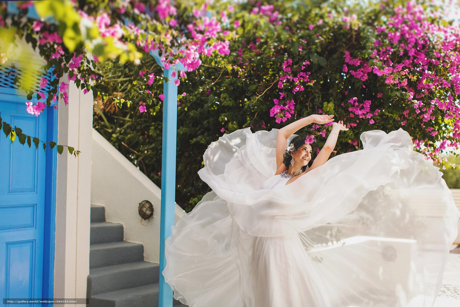 scaricare gli sfondi Fiori,  vestire,  sposa,  ragazza Sfondi gratis per la risoluzione del desktop 2048x1366 — immagine №586253