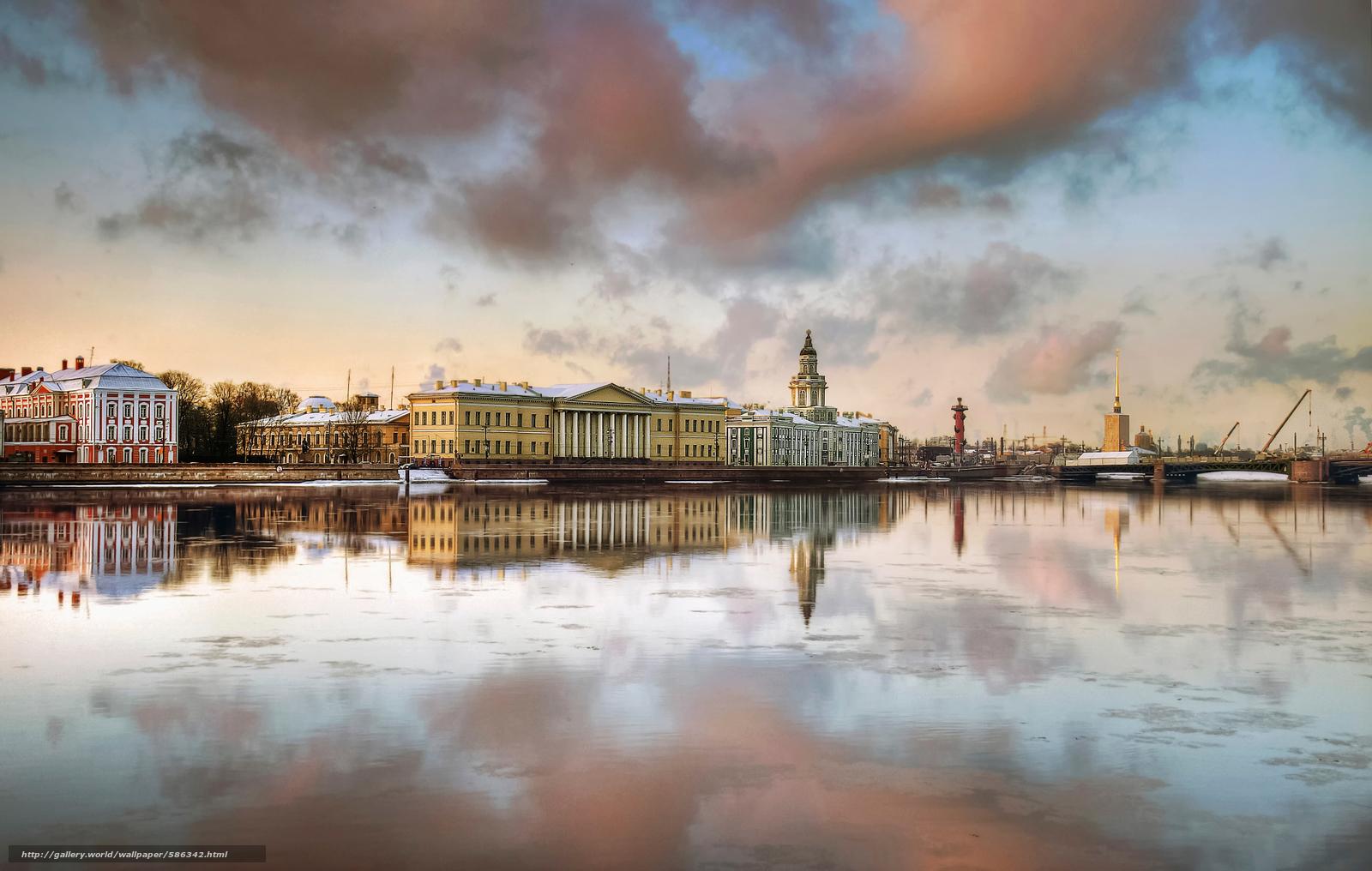 scaricare gli sfondi PRIMAVERA,  Pietroburgo,  terrapieno Sfondi gratis per la risoluzione del desktop 2048x1300 — immagine №586342