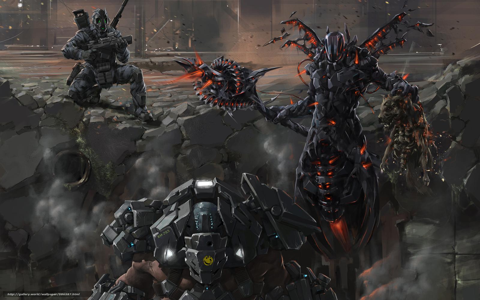 Download wallpaper armor,  ruins,  Warriors,  weapon free desktop wallpaper in the resolution 2426x1516 — picture №586587