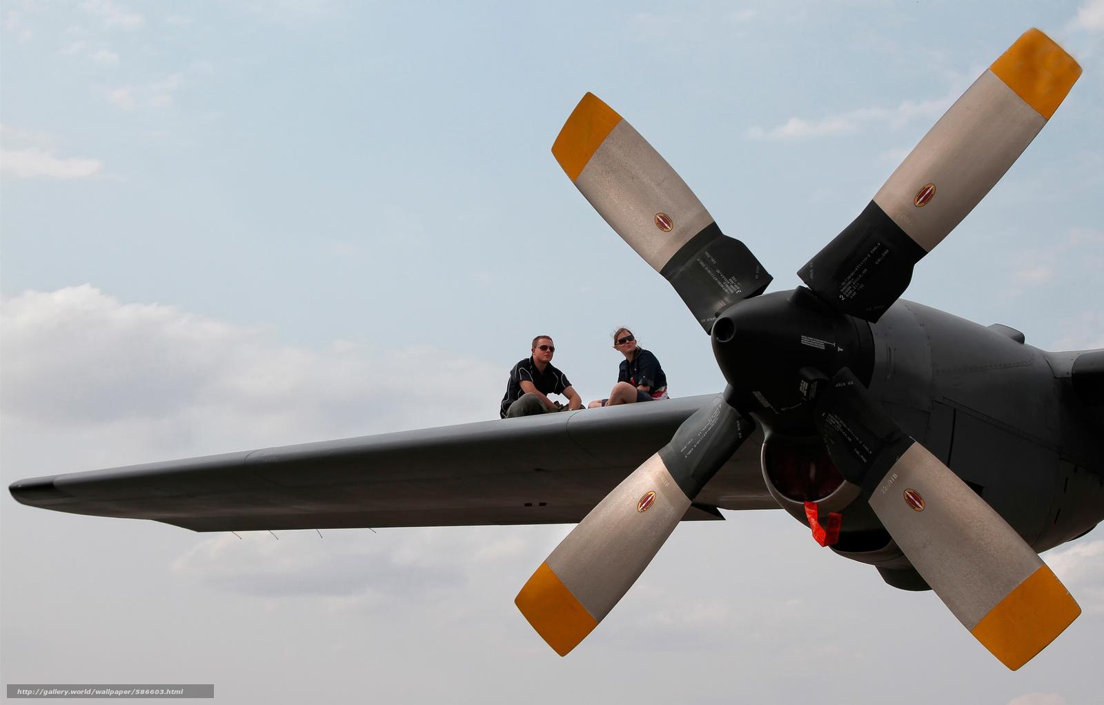 Скачать обои самолёт,  девушка,  парень,  крыло бесплатно для рабочего стола в разрешении 2500x1597 — картинка №586603