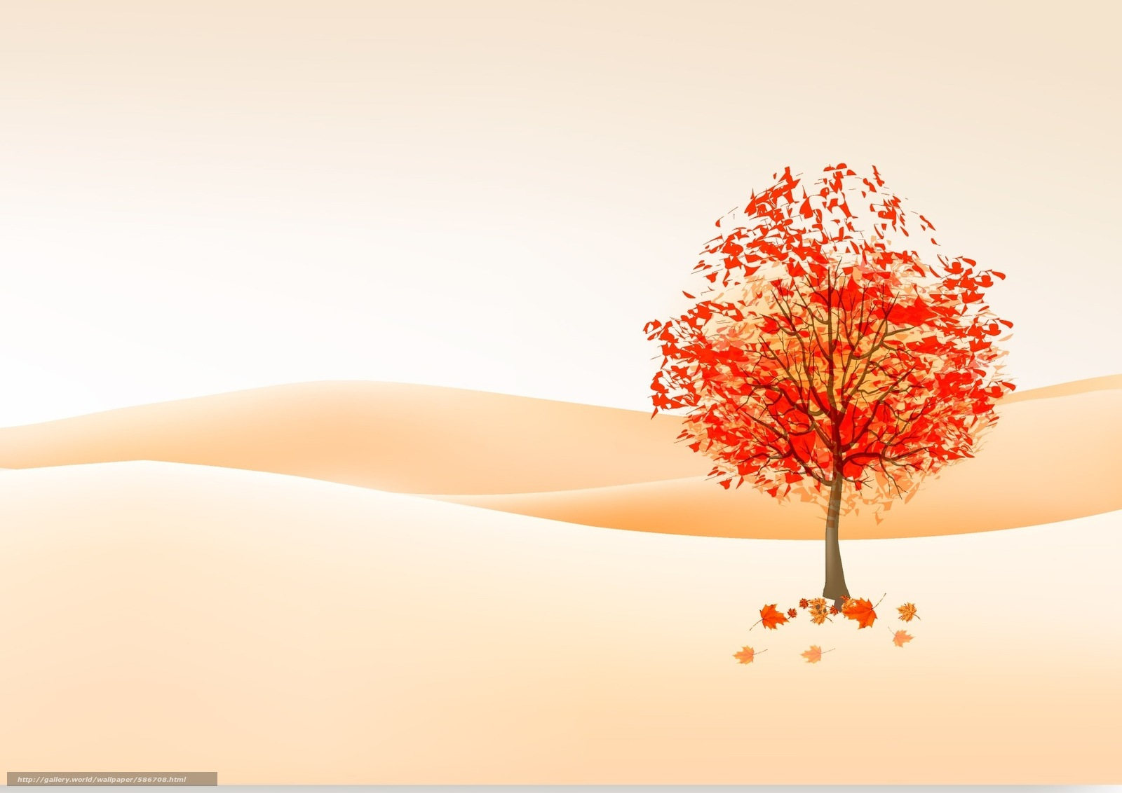 free fall leaves desktop wallpaper
