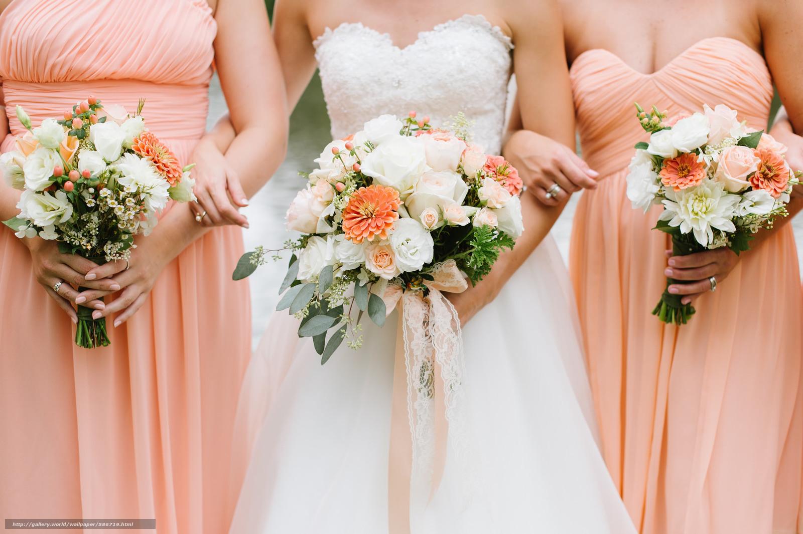 Скачать обои букеты,  свадебные,  подружки,  цветы бесплатно для рабочего стола в разрешении 2048x1363 — картинка №586719