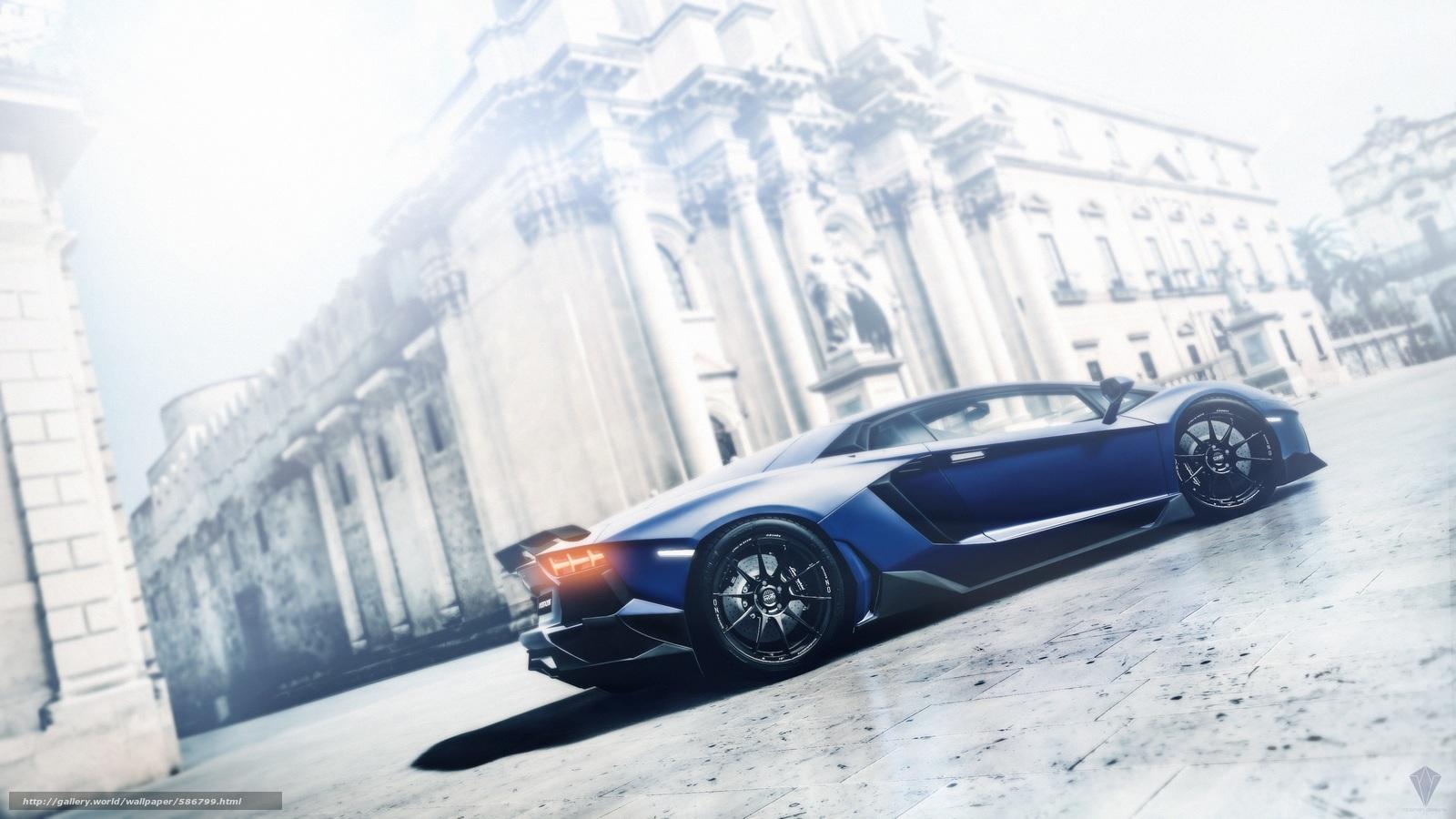 Скачать обои ламборджини,  авентадор,  Lamborghini,  гран туризмо бесплатно для рабочего стола в разрешении 3840x2160 — картинка №586799