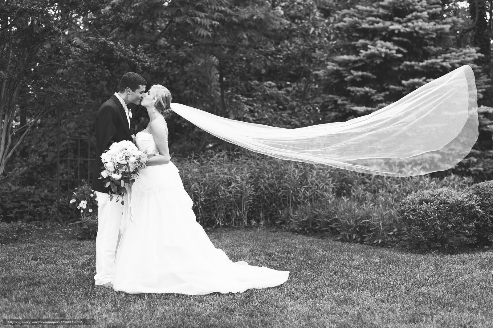 Скачать обои фата,  влюбленные,  костюм,  невеста бесплатно для рабочего стола в разрешении 2048x1363 — картинка №586822