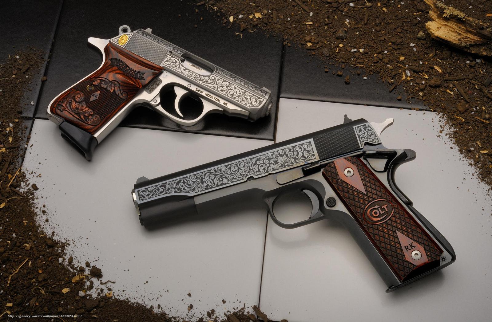 Скачать обои пистолеты,  оружие бесплатно для рабочего стола в разрешении 2048x1341 — картинка №586875