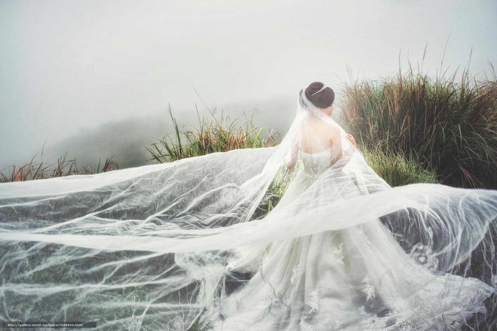 Скачать обои девушка,  платье,  азиатка,  невеста бесплатно для рабочего стола в разрешении 2048x1363 — картинка №586890