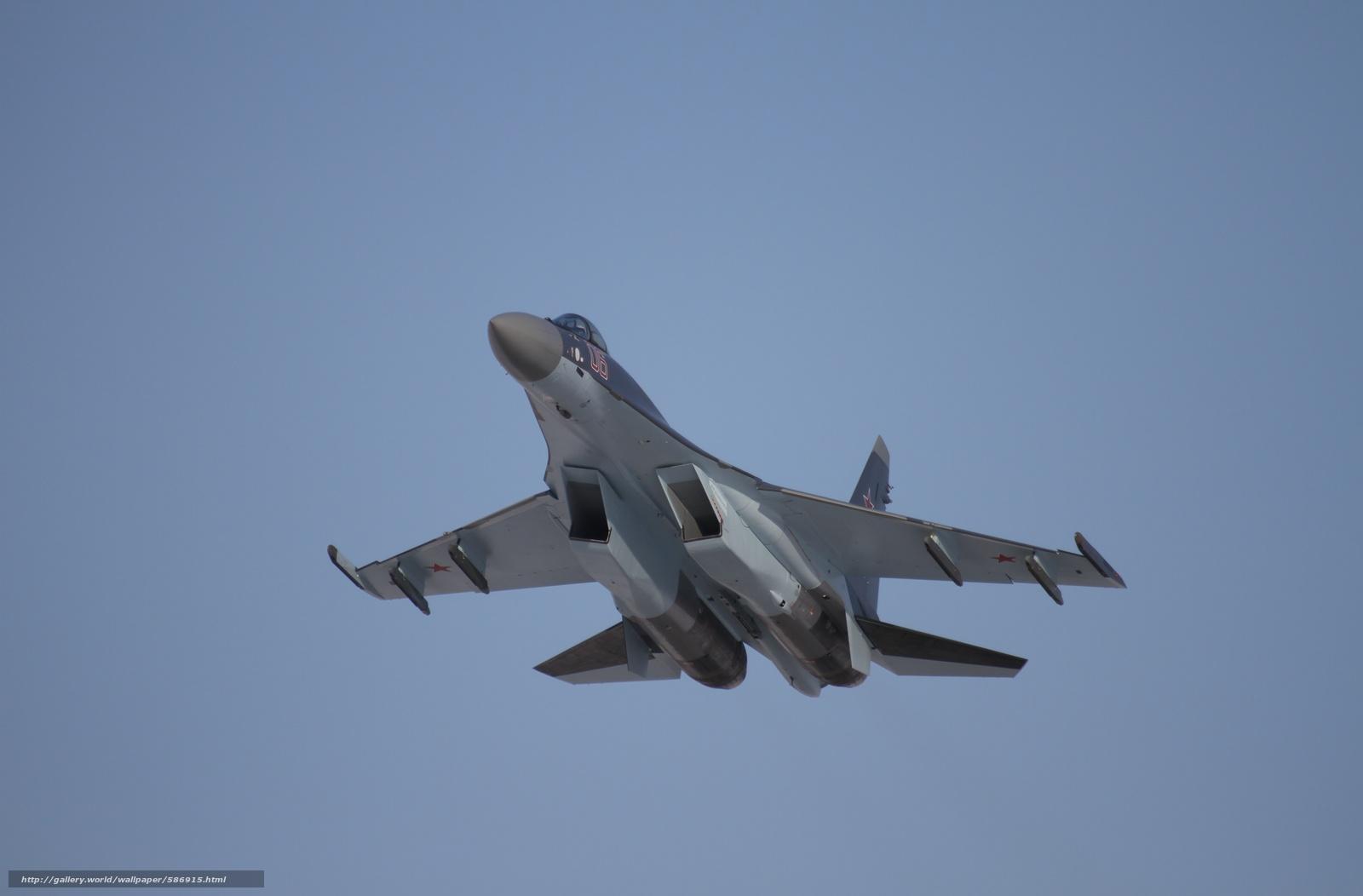 Скачать обои небо,  России,  Истребитель,  ВВС бесплатно для рабочего стола в разрешении 5184x3409 — картинка №586915