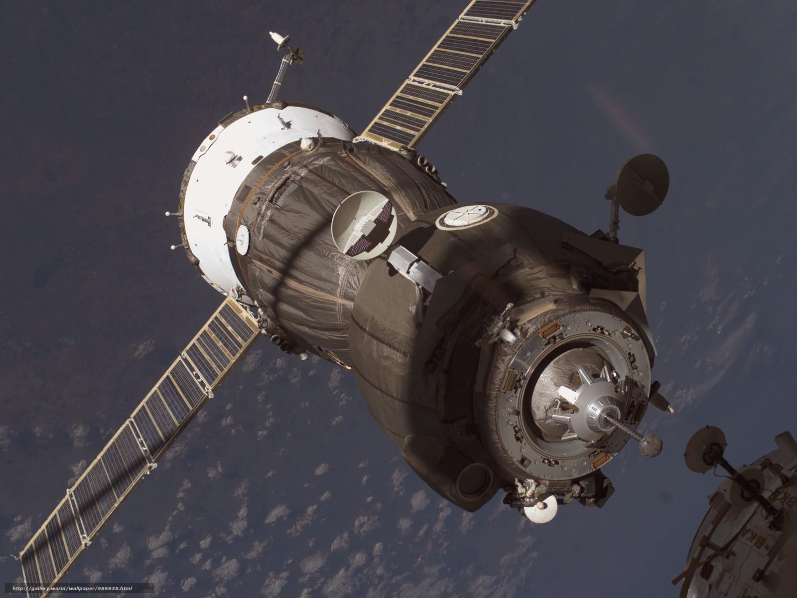 scaricare gli sfondi Soyuz,  attracco,  Cargo russo,  spazio Sfondi gratis per la risoluzione del desktop 2560x1920 — immagine №586935