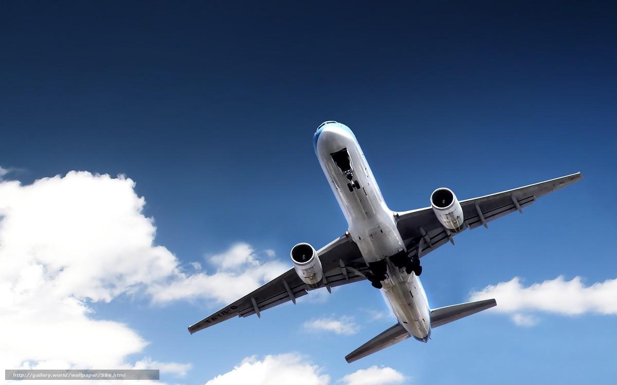 Скачать обои самолет,  небо бесплатно для рабочего стола в разрешении 1680x1050 — картинка №586