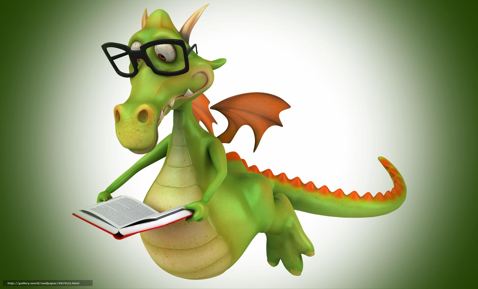 Скачать обои книга,  крылья,  очки,  крокодил бесплатно для рабочего стола в разрешении 6220x3766 — картинка №587022