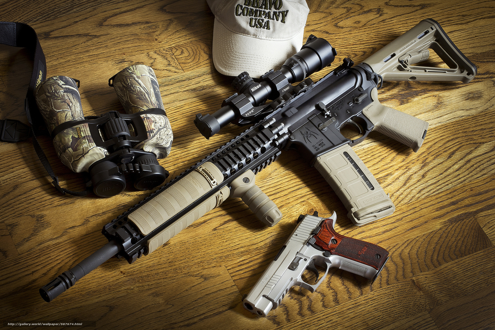 pobra tapety broń,  Assault Rifle,  Lornetki,  pistolet Darmowe tapety na pulpit rozdzielczoci 2048x1365 — zdjcie №587674