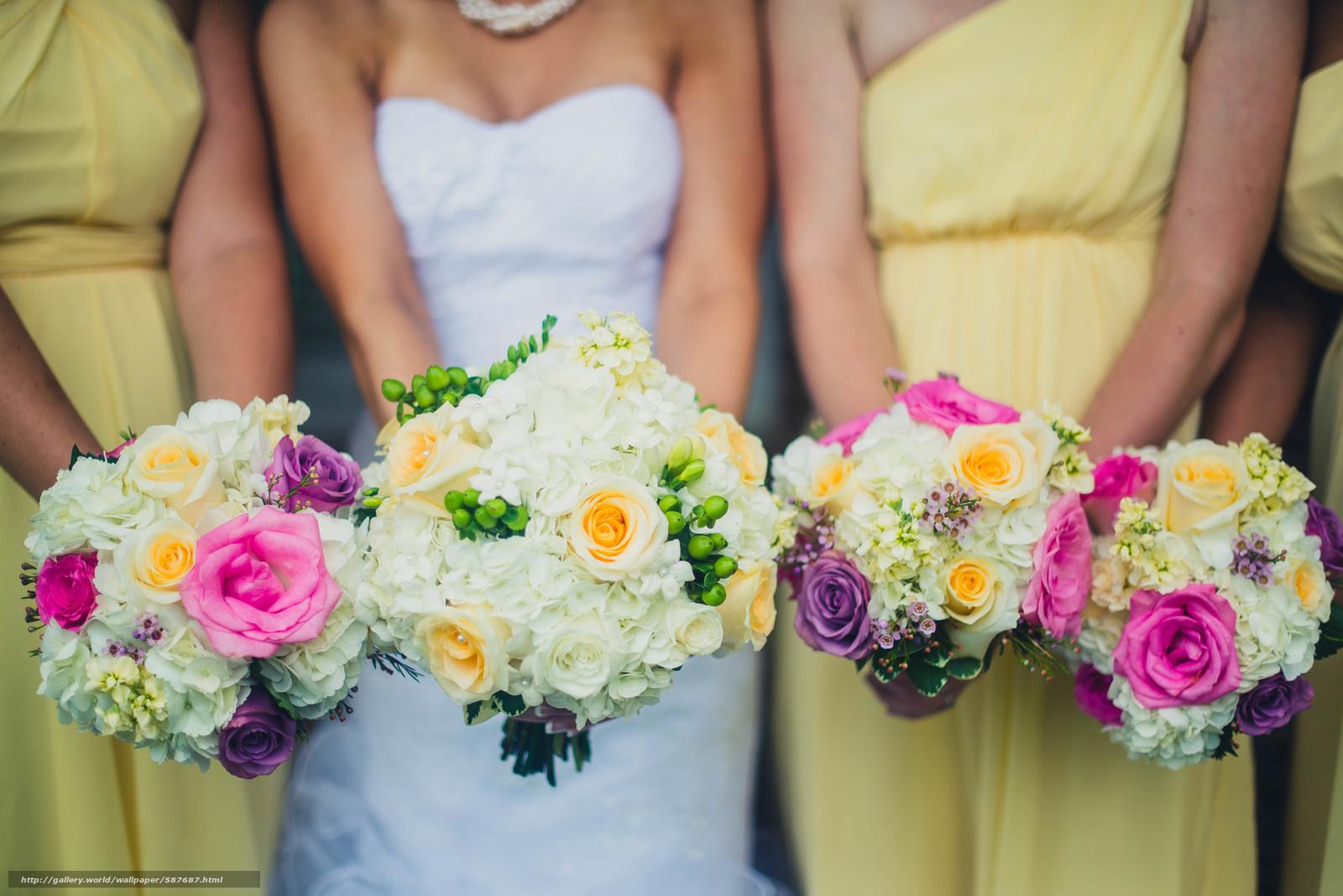 scaricare gli sfondi Matrimonio,  Fiori,  vestire,  sposa Sfondi gratis per la risoluzione del desktop 6016x4016 — immagine №587687