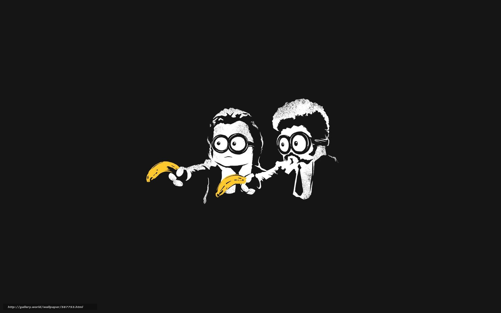 Tlcharger Fond d'ecran EPs,  Pulp Fiction,  bananes,  minimalisme Fonds d'ecran gratuits pour votre rsolution du bureau 1920x1200 — image №587753