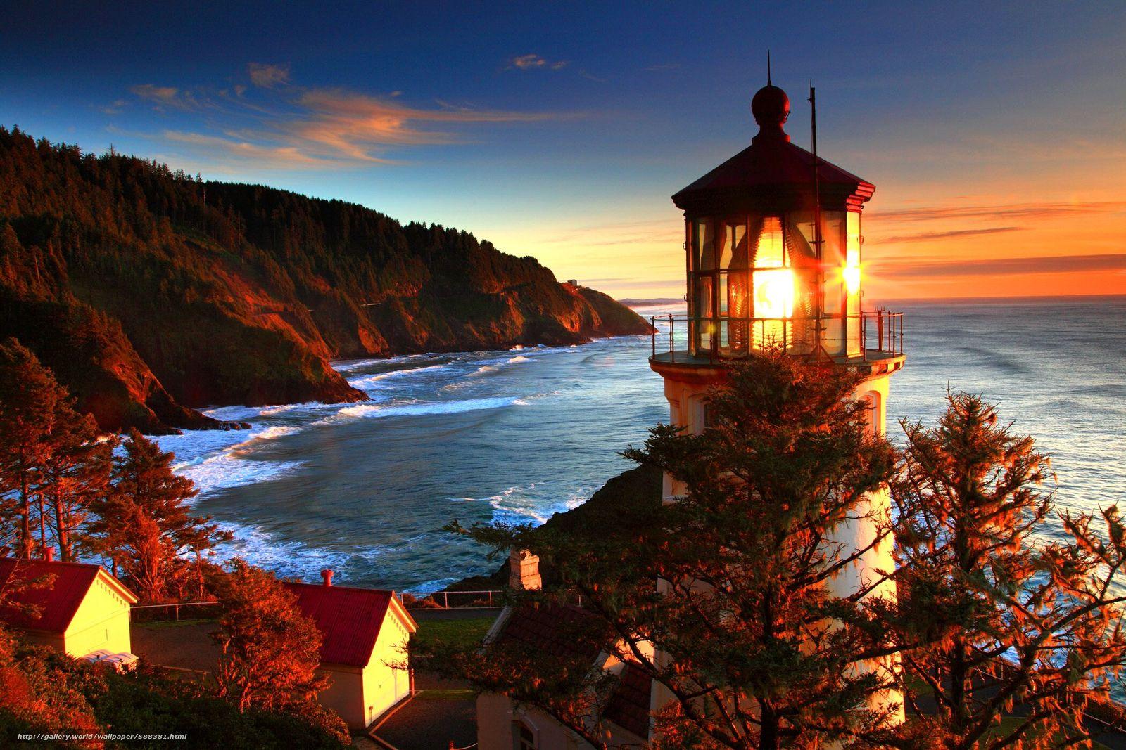 壁紙をダウンロード 海岸,  海,  自然,  灯台 デスクトップの解像度のための無料壁紙 2100x1400 — 絵 №588381