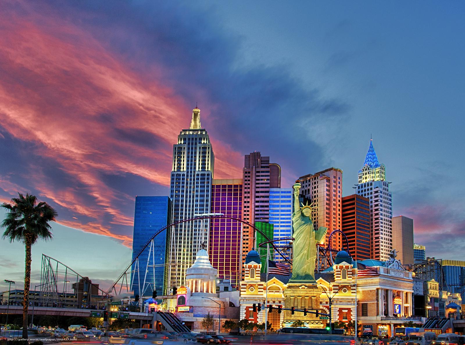 Download Wallpaper Las Vegas City Sunset Free Desktop Wallpaper In The Resolution 6168x4588 Picture 588427