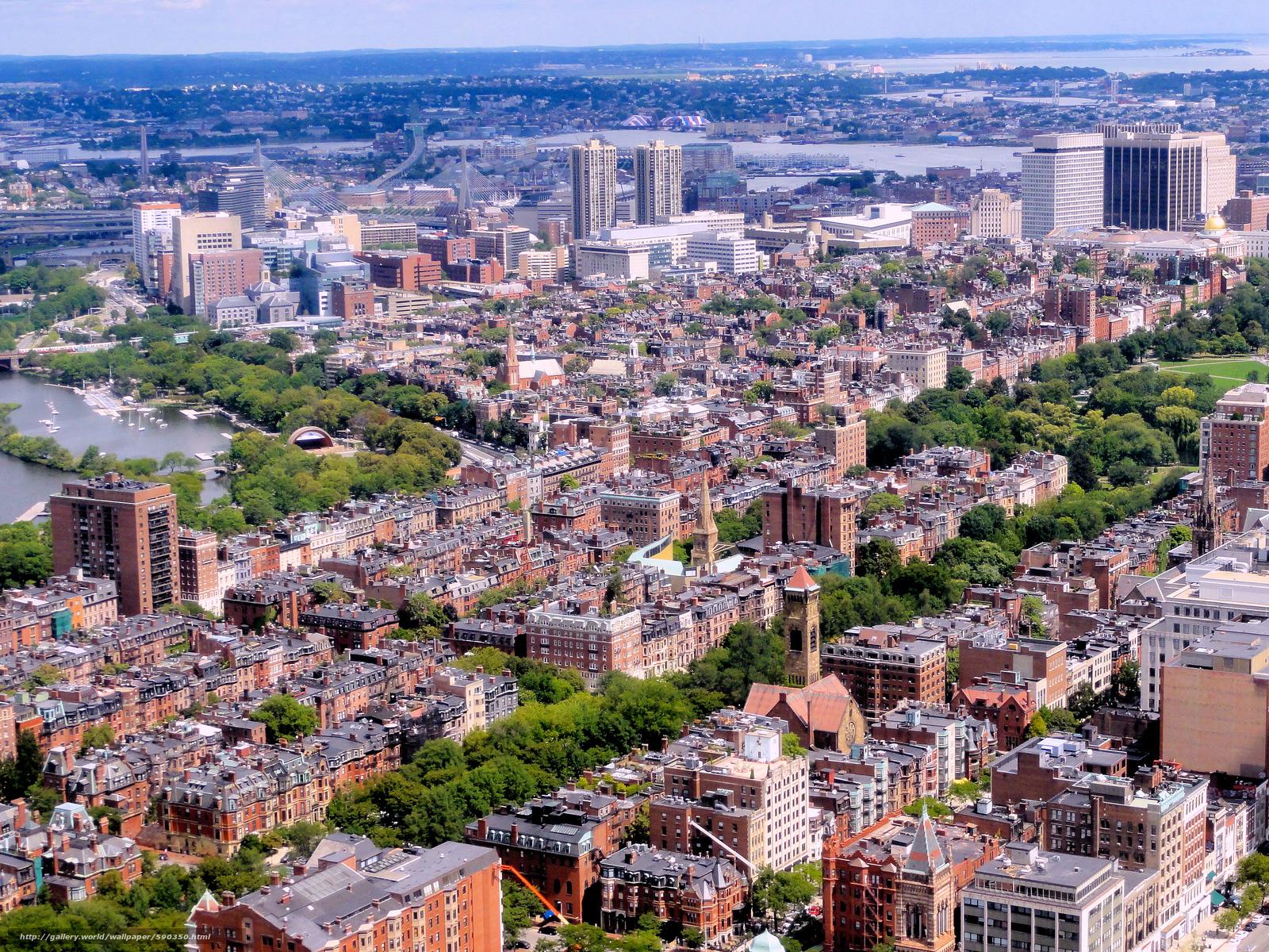 Download wallpaper Beacon Hill, Boston