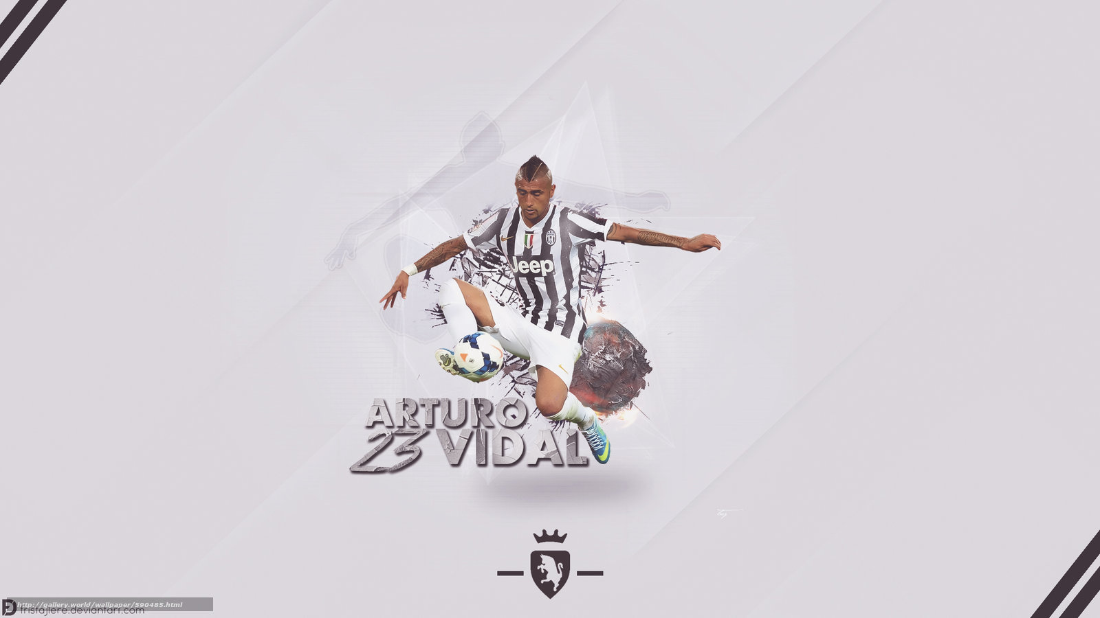 Download wallpaper Arturo,  Vidal,  Juve free desktop wallpaper in the resolution 1600x900 — picture №590485