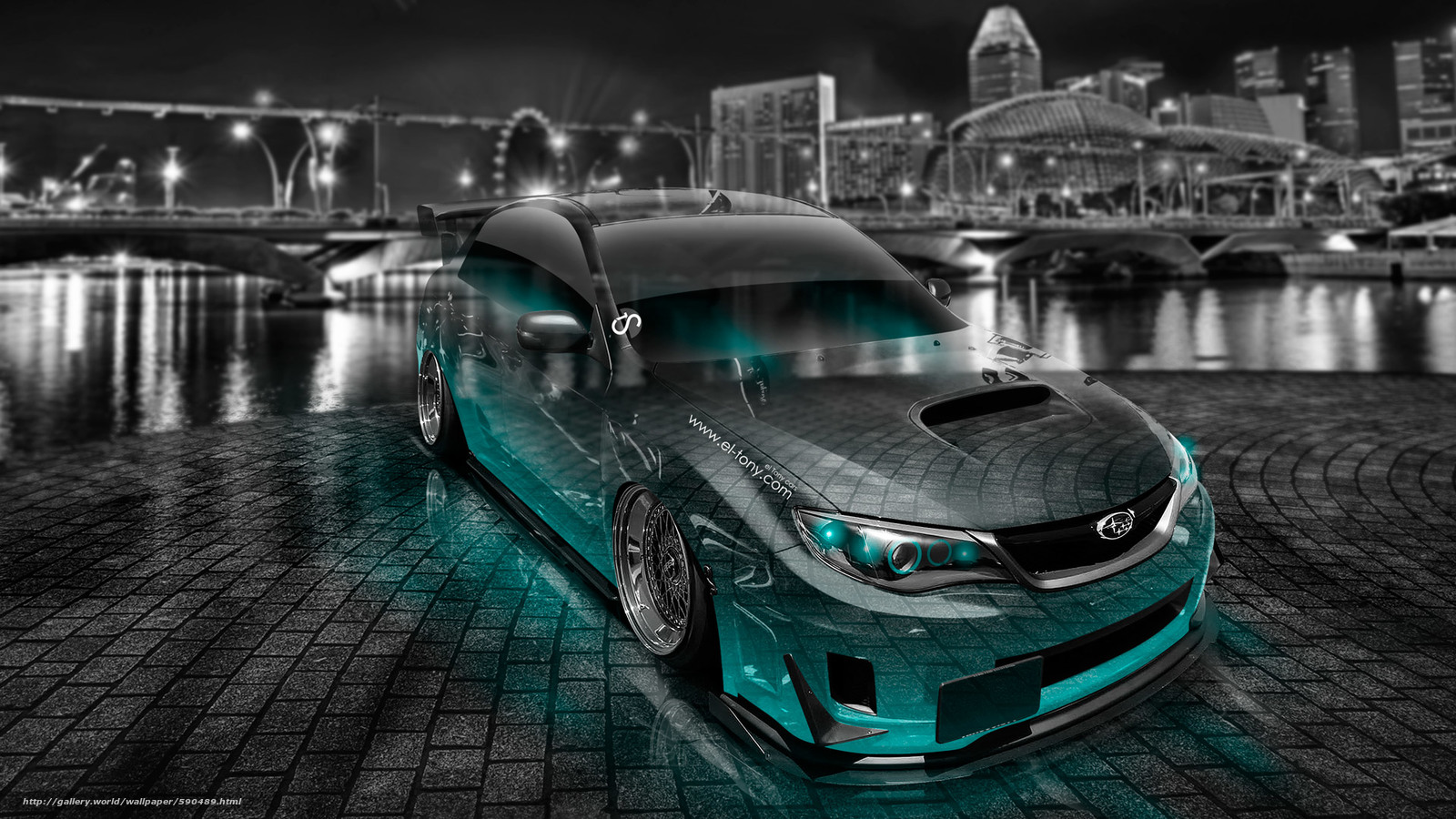 Download wallpaper Tony Kokhan,  Subaru,  Impreza,  WRX free desktop wallpaper in the resolution 1920x1080 — picture №590489