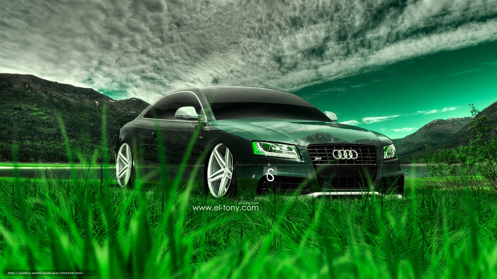 Download wallpaper Tony Kokhan,  Audi,  S5,  Crystal free desktop wallpaper in the resolution 1920x1080 — picture №590608