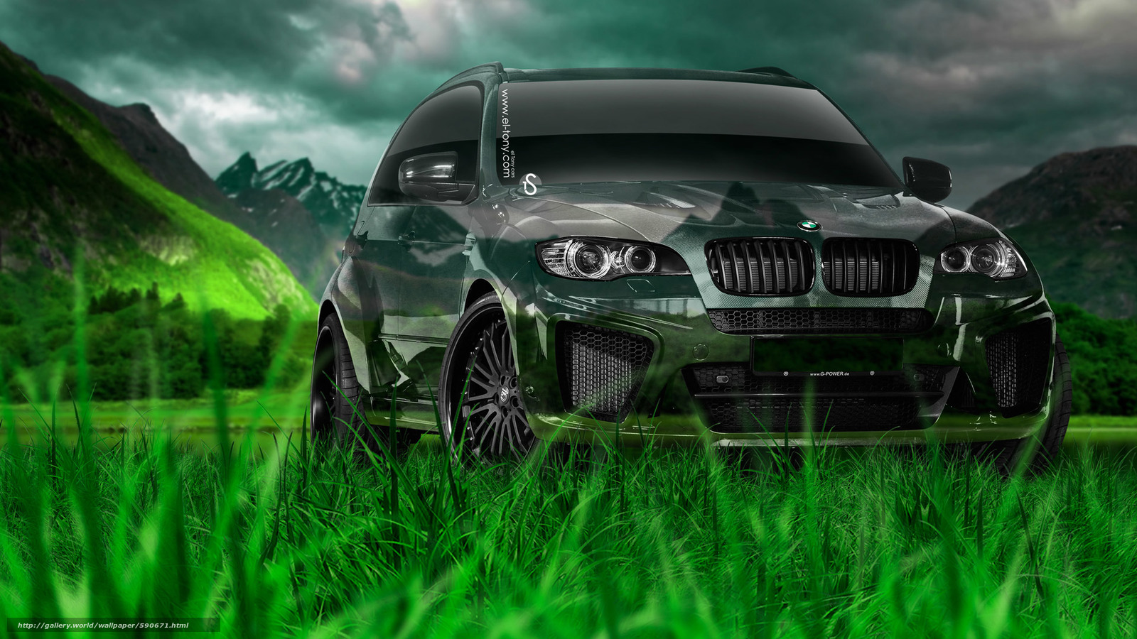 Download wallpaper Tony Kokhan,  BMW,  X5,  Crystal free desktop wallpaper in the resolution 1920x1080 — picture №590671