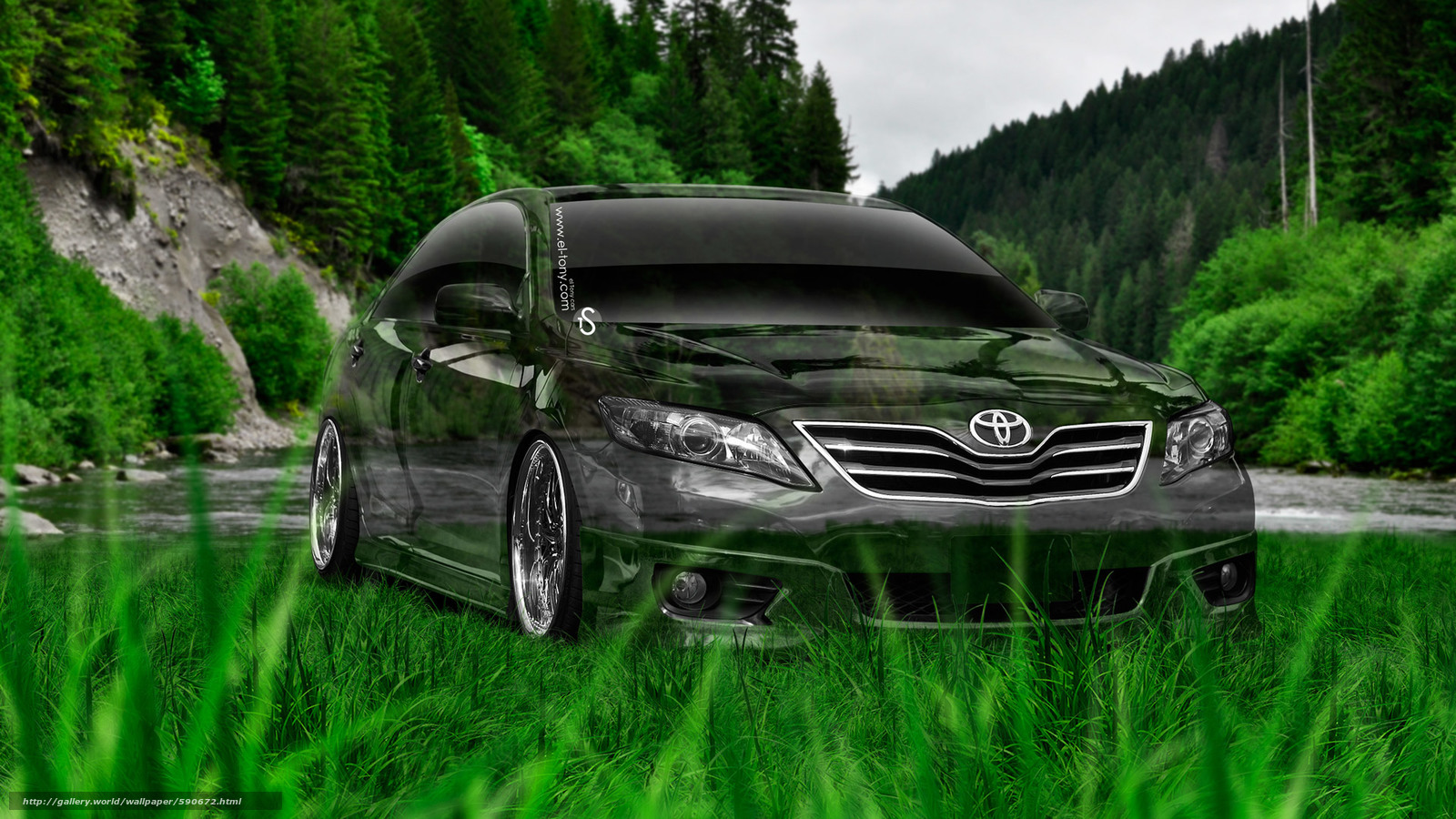 Download wallpaper Tony Kokhan,  Toyota,  Camry,  Crystal free desktop wallpaper in the resolution 1920x1080 — picture №590672