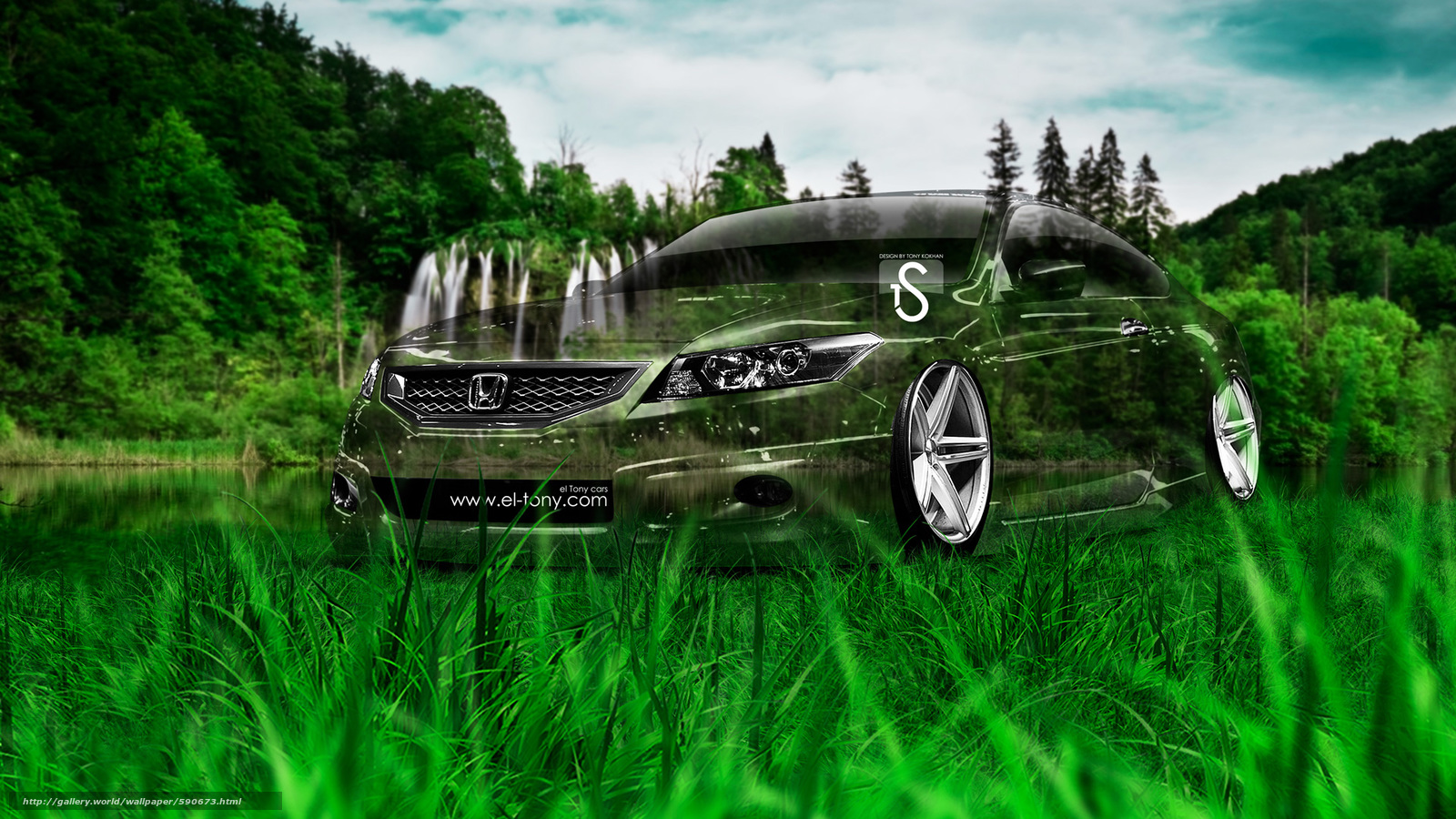 Download wallpaper Tony Kokhan,  Honda,  Accord,  Coupe free desktop wallpaper in the resolution 1920x1080 — picture №590673