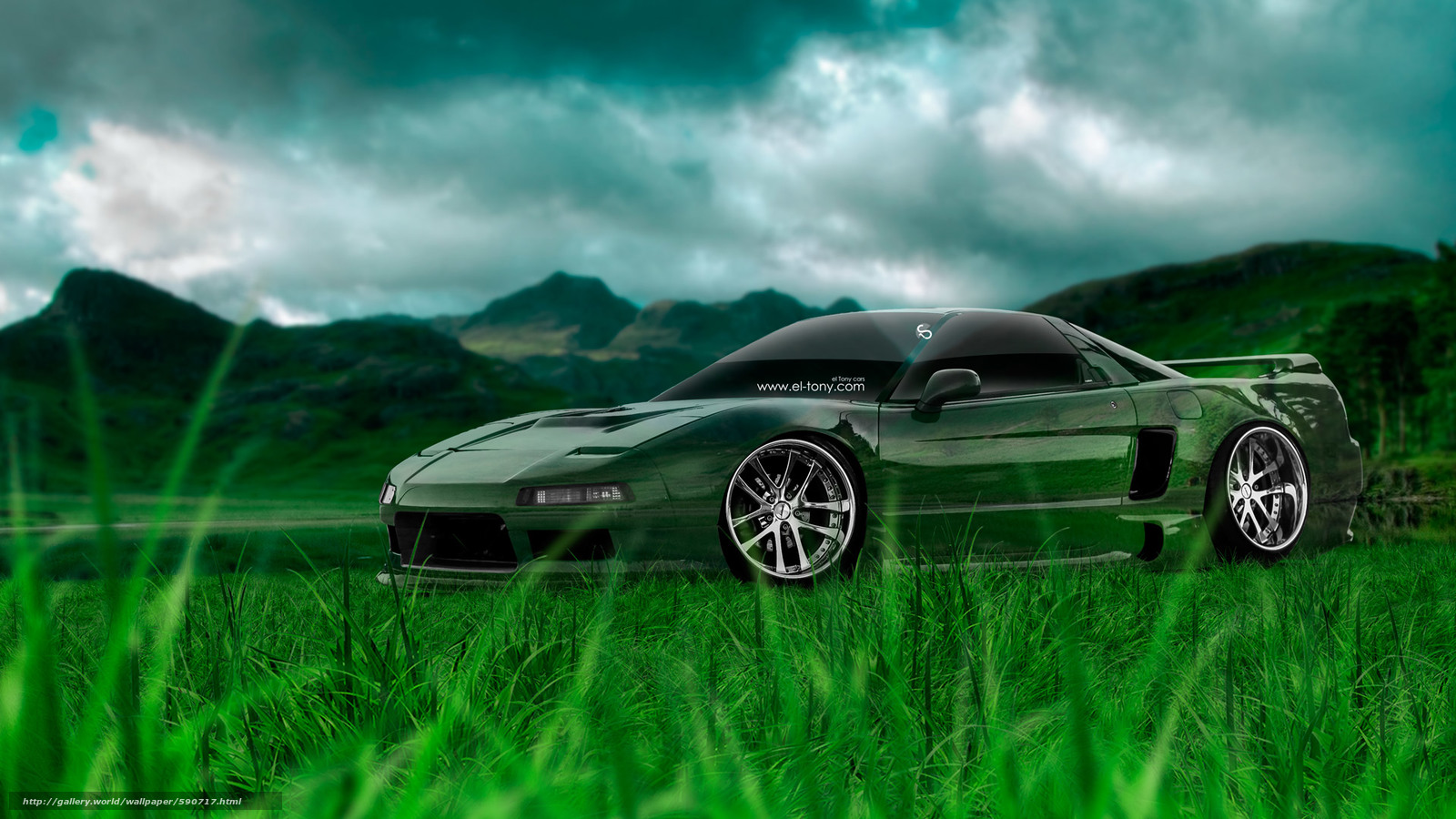 Download wallpaper Tony Kokhan,  NSX,  JDM,  Crystal free desktop wallpaper in the resolution 1920x1080 — picture №590717