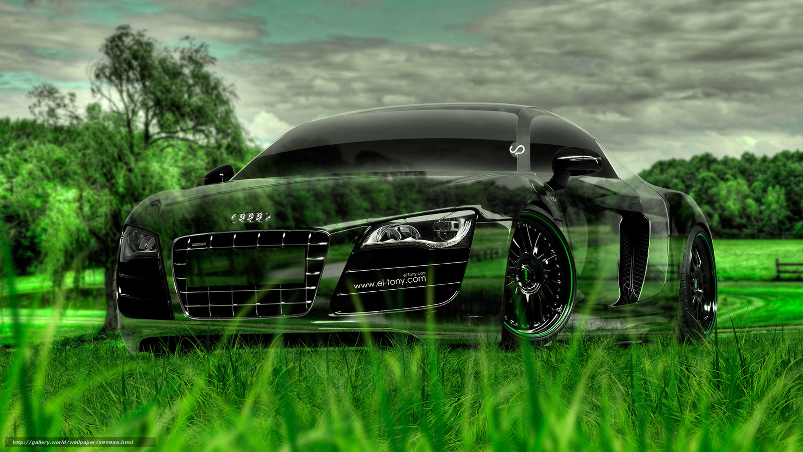 Download wallpaper Tony Kokhan,  Audi,  R8,  Crystal free desktop wallpaper in the resolution 1920x1080 — picture №590956
