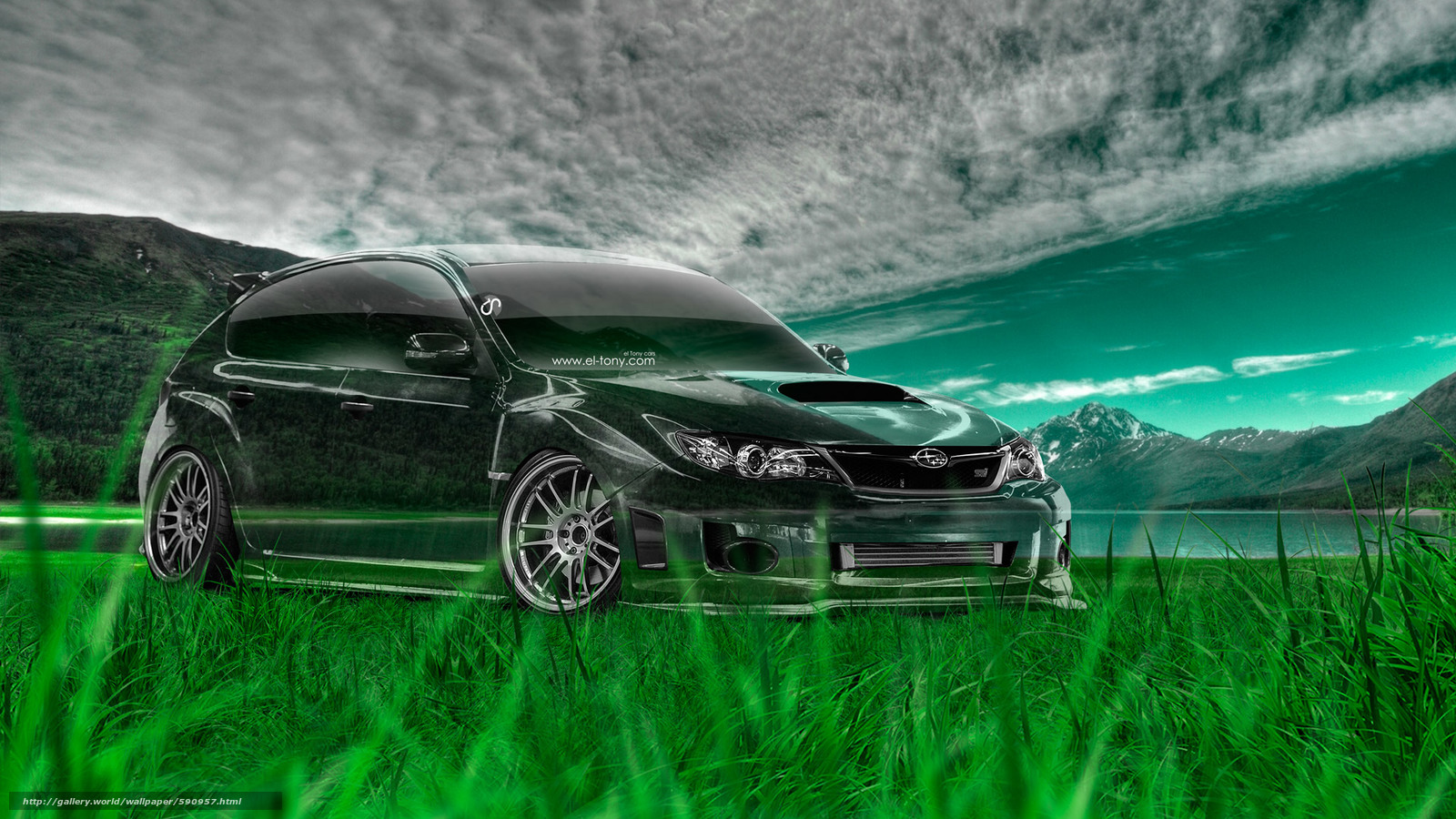 Download wallpaper Tony Kokhan,  Subaru,  Impreza,  WRX free desktop wallpaper in the resolution 1920x1080 — picture №590957