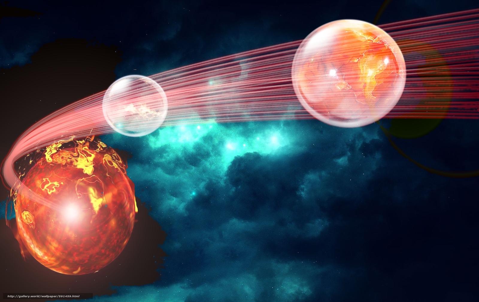 Скачать обои планеты,  космос,  3d,  art бесплатно для рабочего стола в разрешении 1900x1200 — картинка №591459