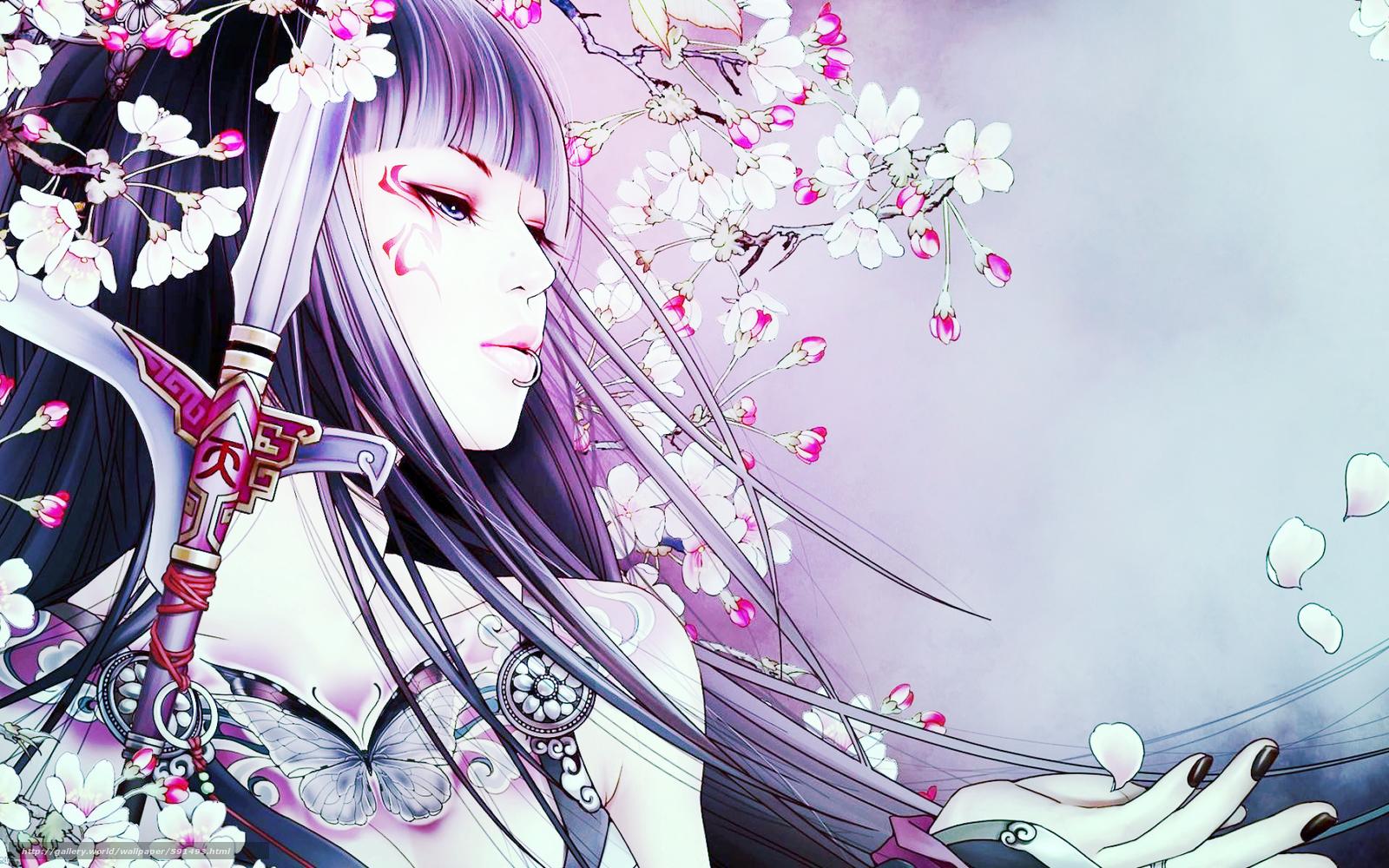 scaricare gli sfondi geisha,  ragazza,  anime Sfondi gratis per la risoluzione del desktop 1920x1200 — immagine №591493