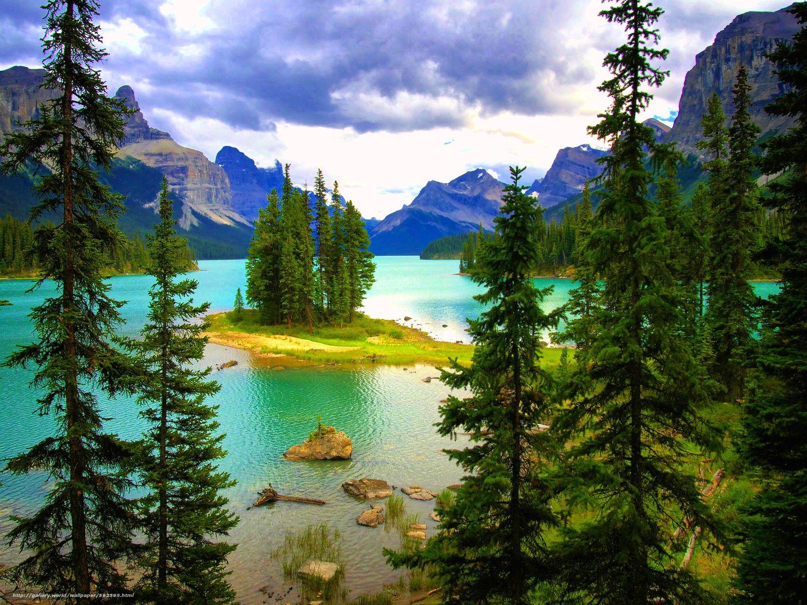 Tlcharger Fond d'ecran Lac Maligne,  Parc national de Jasper,  Canada Fonds d'ecran gratuits pour votre rsolution du bureau 2304x1728 — image №592595