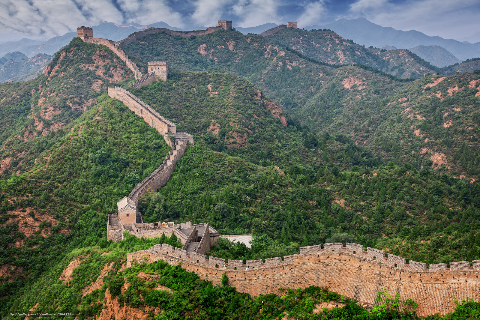 Download wallpaper Great Wall,  China,  landscape free desktop wallpaper in the resolution 5760x3840 — picture №594373