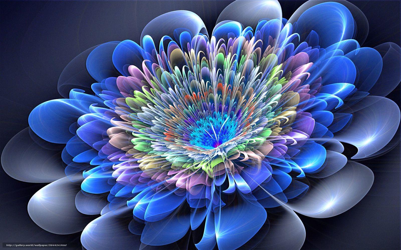 Pobra Tapety Cyber Kwiat Abstrakcja 3d Sztuka Darmowe Tapety Na