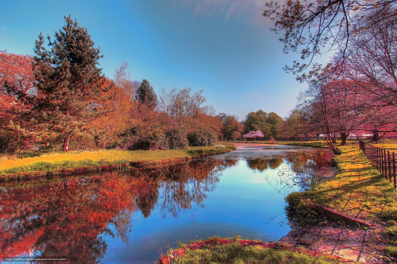 Download wallpaper autumn,  river,  trees,  landscape free desktop wallpaper in the resolution 5992x3988 — picture №594646