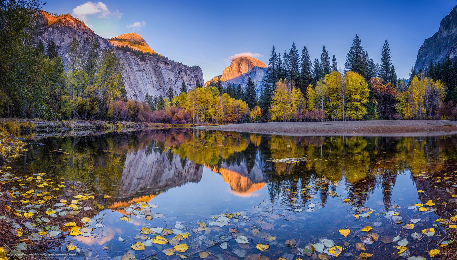 Scaricare gli sfondi yosemite montagne lago autunno for Sfondi desktop autunno