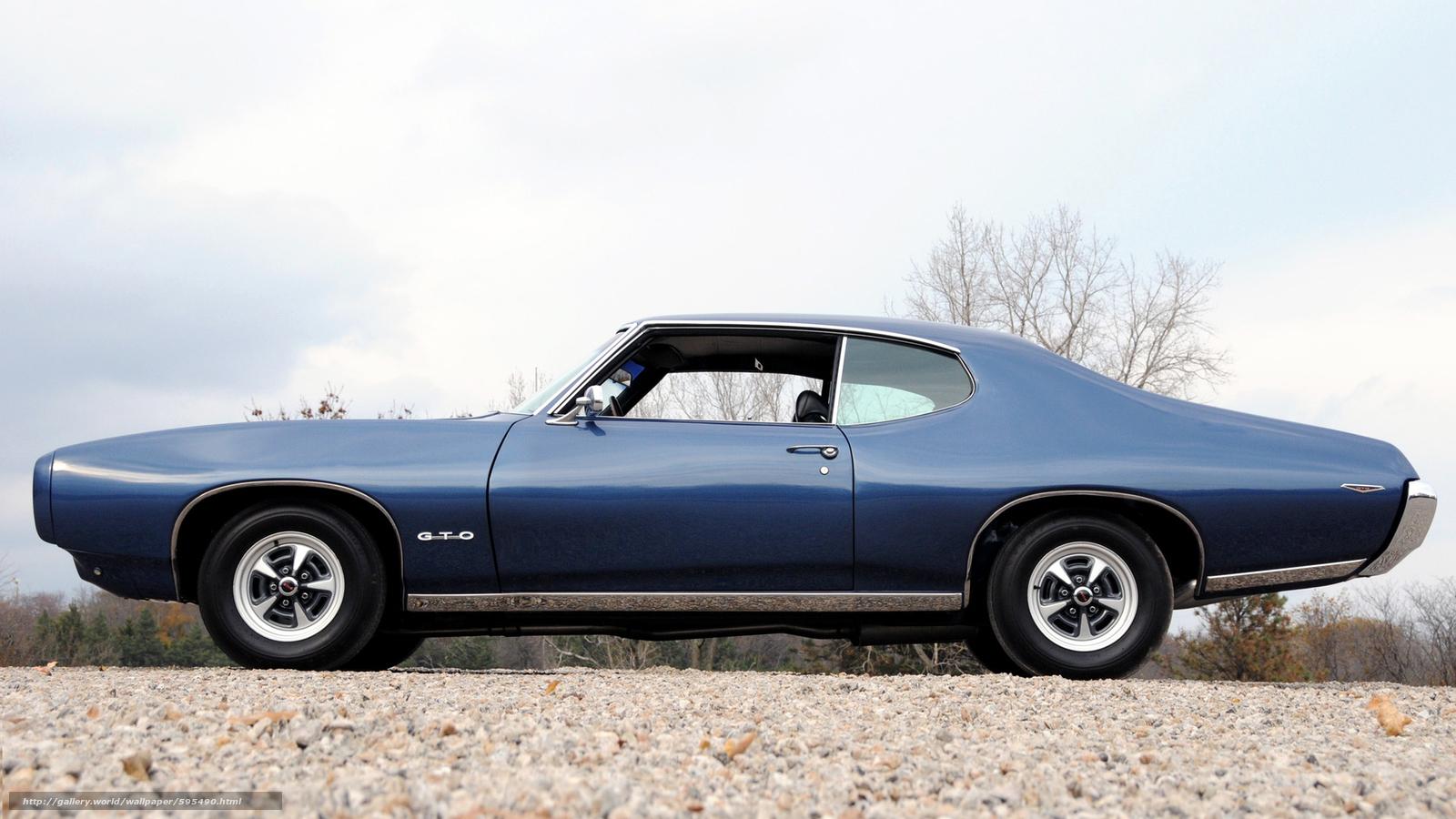 tlcharger fond d 39 ecran classique voiture nostalgie 1969 pontiac gto hardtop coupe fonds d. Black Bedroom Furniture Sets. Home Design Ideas