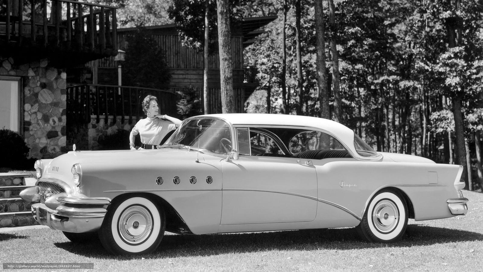 tlcharger fond d 39 ecran classique voiture nostalgie 1955 buick super riviera hardtop coupe. Black Bedroom Furniture Sets. Home Design Ideas