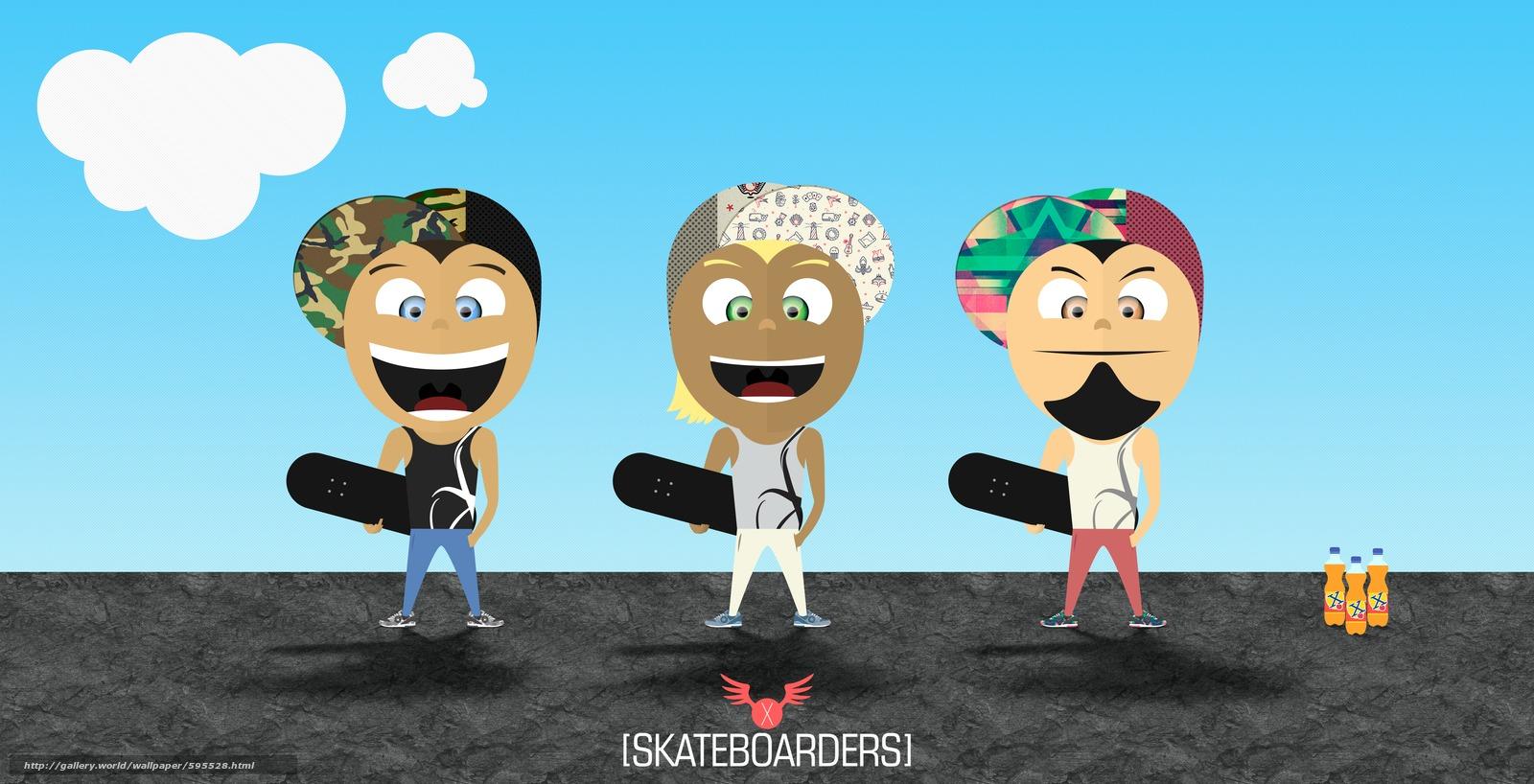 Download wallpaper skate,  skaters,  skateboard free desktop wallpaper in the resolution 5494x2810 — picture №595528